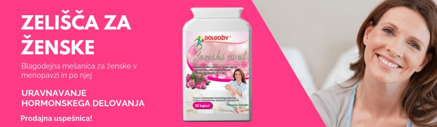 Blagodejna mešanica za ženske v menopavzi in po njej.